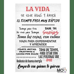 """Cuadro de Madera """"La Vida"""""""