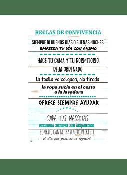 """Cuadro de Madera """"Reglas de Convivencia"""""""