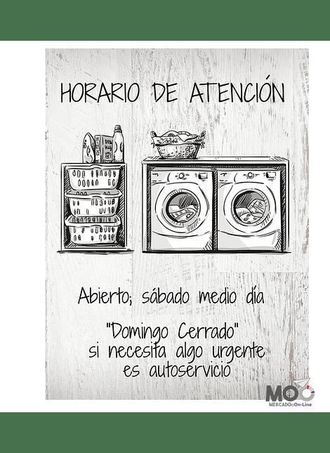 """Cuadro de Madera 30x40 """"Horario de Atención"""""""