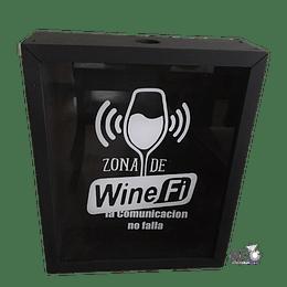 "Caja de Corchos ""Wine Fi"" (29x30 cm)"