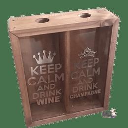 Caja Doble de Vino y Champagne