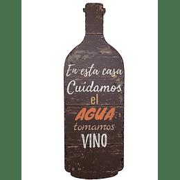 """Botella Deco """"Cuidamos el Agua"""""""
