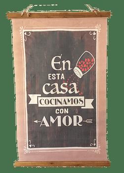 """Pergamino """"Cocinamos con Amor"""""""
