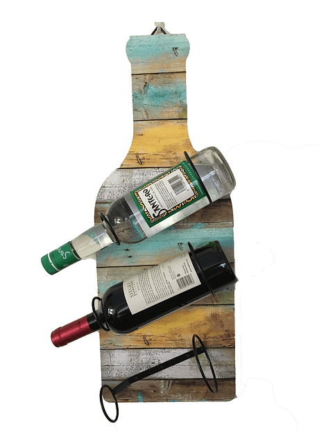 "Porta Botellas Diagonal ""Colores"""