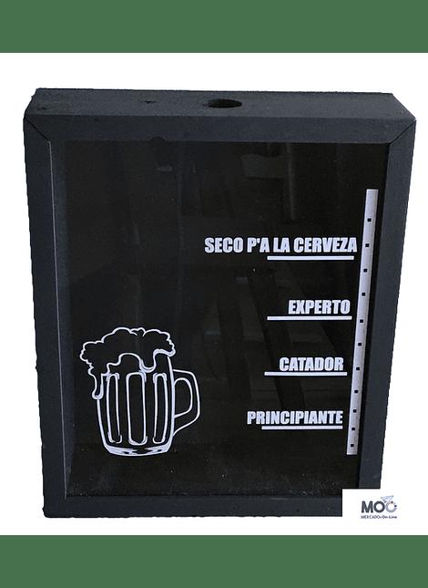 "Caja para Tapas de Cervezas ""Nivel de Consumo"""