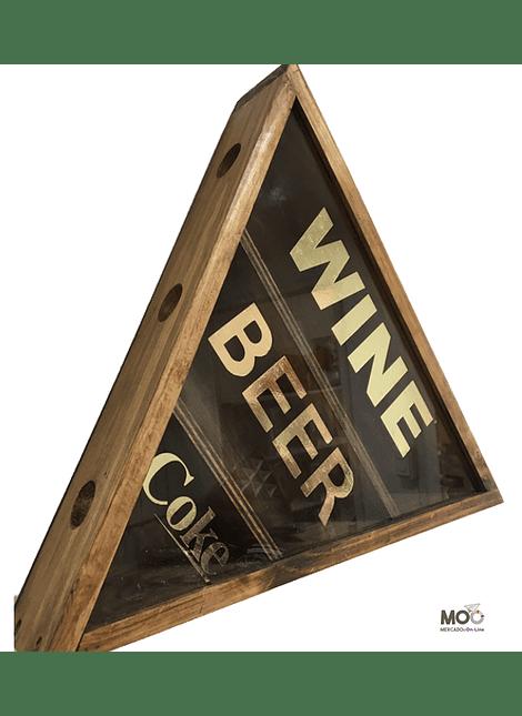 "Caja Triangular Café ""Vinos, Cervezas y Bebidas"""