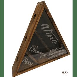 """Caja Triangular Café """"Vinos, Champagne y Bebidas"""""""