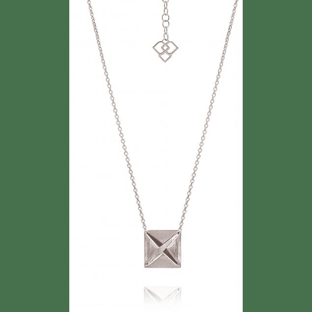 Origami | Colar Banho de Ródio
