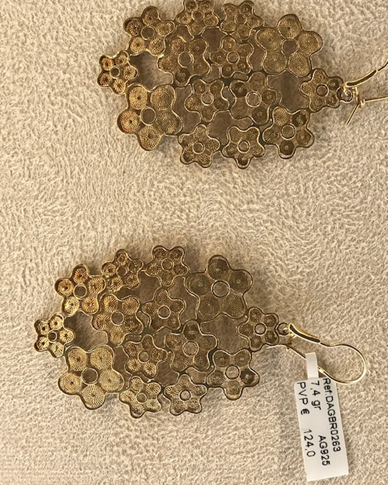 BRINCOS | Brincos pétala dourados