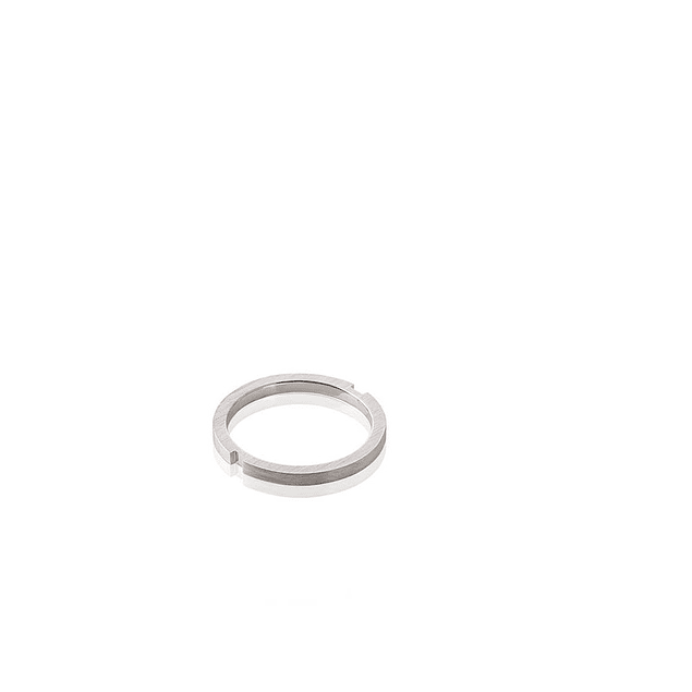 ANEL 'Slice Quadrado' Ródio 2,0 gr