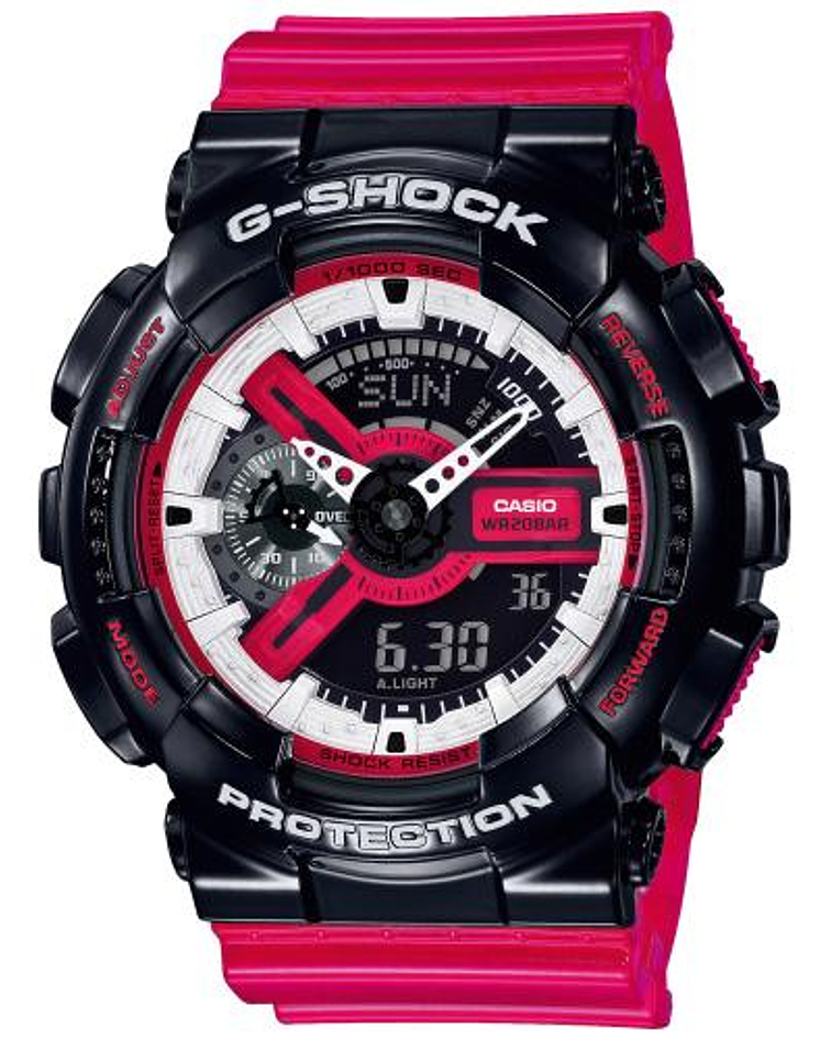 Red Black and White Series GA-110RB-1AER
