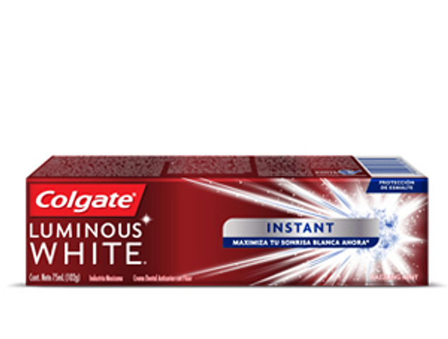 Crema dental colgate luminous white instant