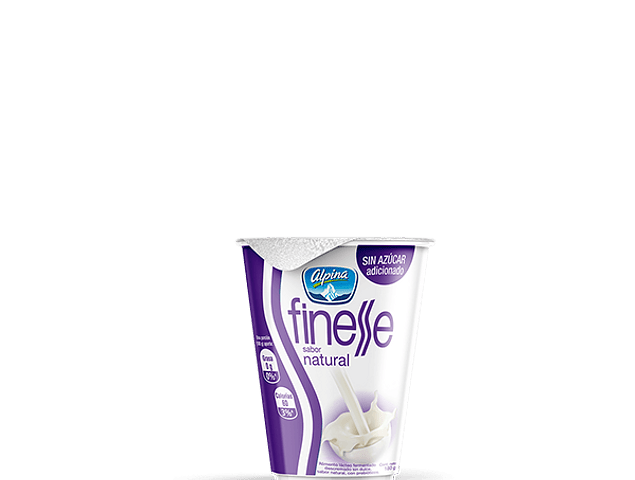 Yogurt finesse Alpina natural 150 gramos