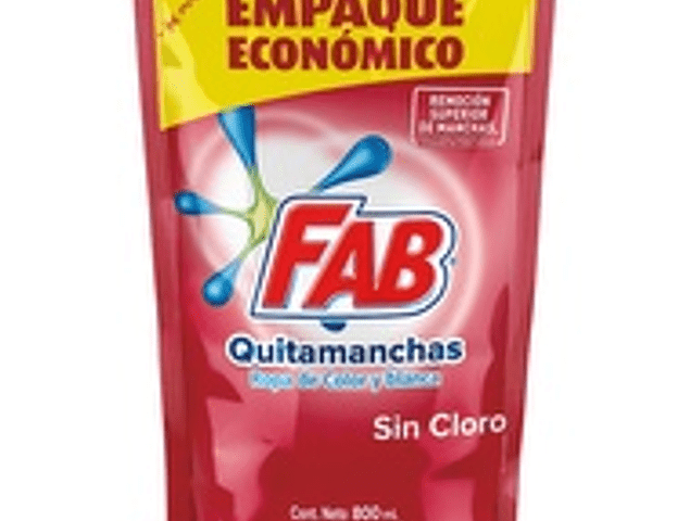 Fab quitamanchas ropa color 800 ml
