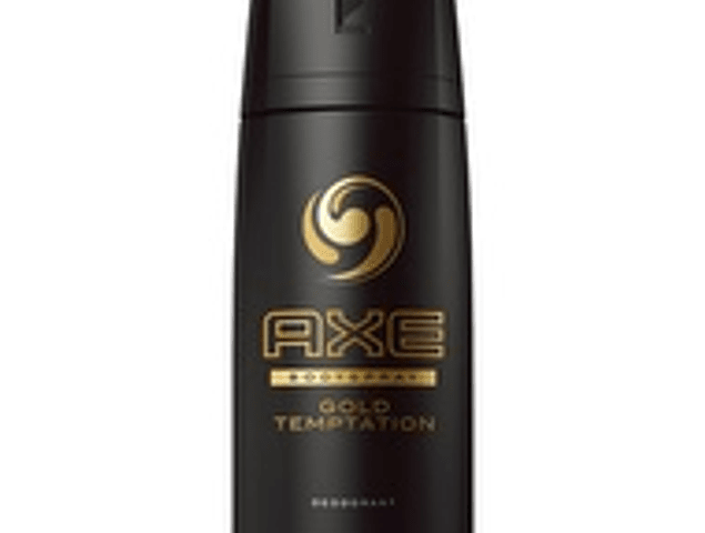 Desodorante fragancia body spray Axe Gold Temptation 96 gramos