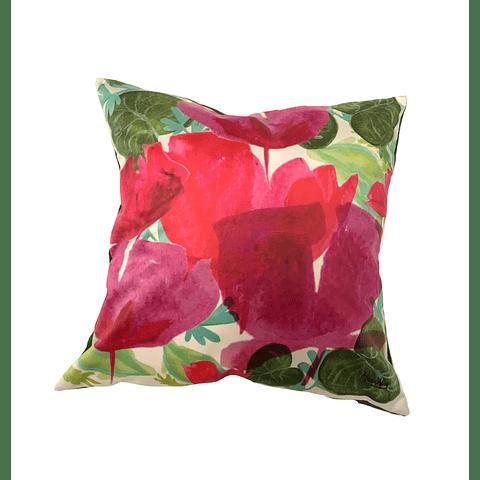 Funda Cojín Tulip red felpa