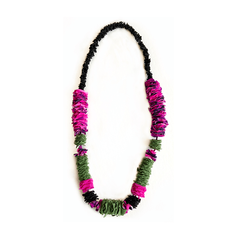 Collar Fucsia-green