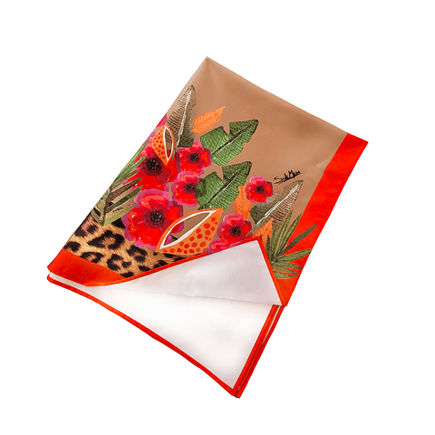 Mantel Flores Print lona