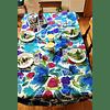 Mantel Tulip Blue lona