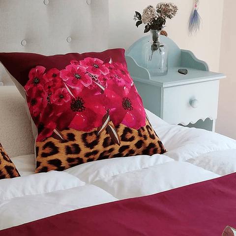 Piecera Animal Print flores