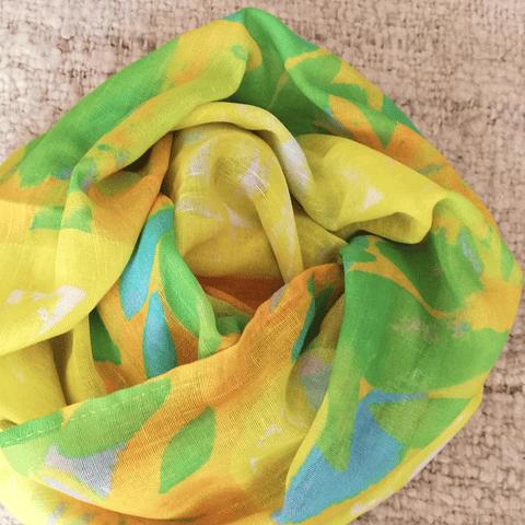 Pañuelo XL tipo pareo Amarillo