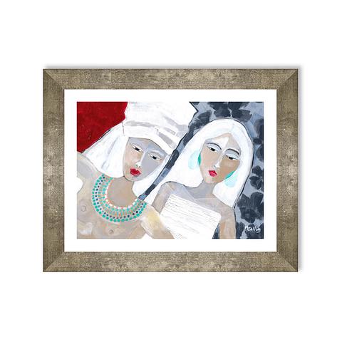 Cuadro Mujeres en Blanco