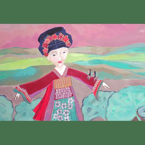 Cuadro Mujer y nalcas