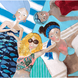 Cuadro Mujeres en la playa