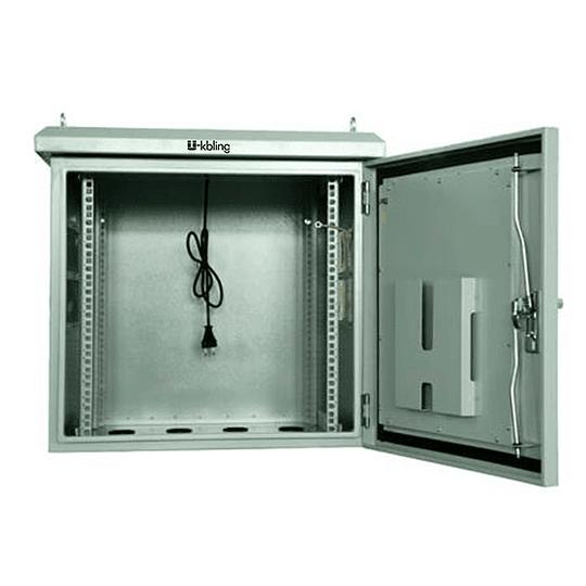 Gabinete Rack Mural 19 12U x600x600mm IP65