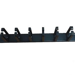 UK Ordenador 19 1U Metálico 8 Anillas s/tapa,