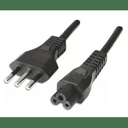 Cable poder trebol con enchufe macho de 3P - 1.8 mts.