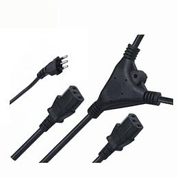 Cable Poder Y Splitter 2xC13/Plug L