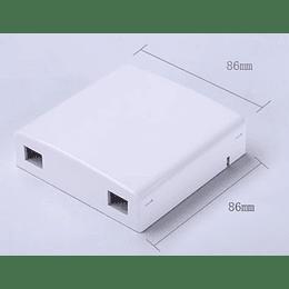 Roseta para FTTH 2 puertos 105x82x20mm