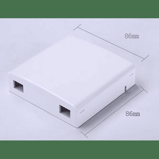 UK Roseta para FTTH 2 puertos 105x82x20mm