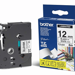 Cinta para rotuladora Brother TZE-231 Negro/Blanco