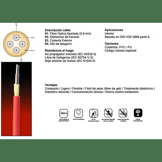 Cable de Fibra Óptica  12x62 CDI - TIA 598
