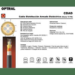 Cable de Fibra Óptica 04x62 CDAD - TIA 598 / OM1