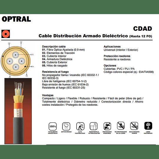 Cable de Fibra Óptica 06x50 CDAD - TIA 598