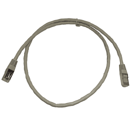 Patch Cord CAT. 6A 0,90 Gris Blindado