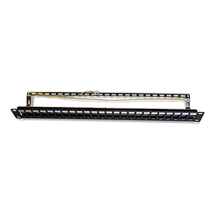 Patch Panel 24 P CAT. 6A vacio Blindado