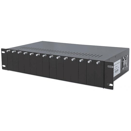 Chasis 19 2U 14-Slot Media Converter