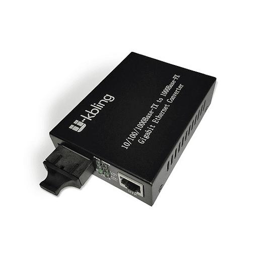 Conversor de Medio 10/100/1000 Monomodo 20 Km conector SC