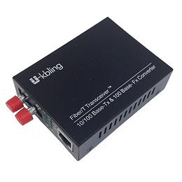 Conversor de Medio 10/100 Multimodo 2km 1300 Conector ST