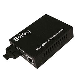 Conversor de Medio 10/100 monomodo 20 km 1310 nm Conector SC