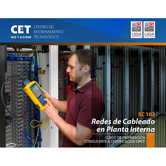 14 al 17 de junio - Certificación CPCT - Redes en Cableado en Planta Interna