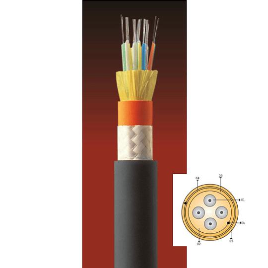 Cable Fibra Óptica 06x62 CDAD TIA 598/OM1 Naranjo