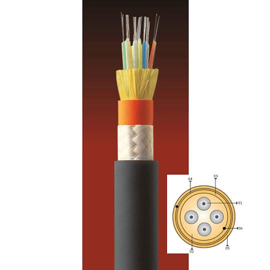 Cable Fibra Óptica 06x10 CDAD - TIA 598 (PU-MATE) AMPHENOL