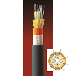 Cable Fibra Optica 12x62 CDAD - TIA 598 / OM1 Negra