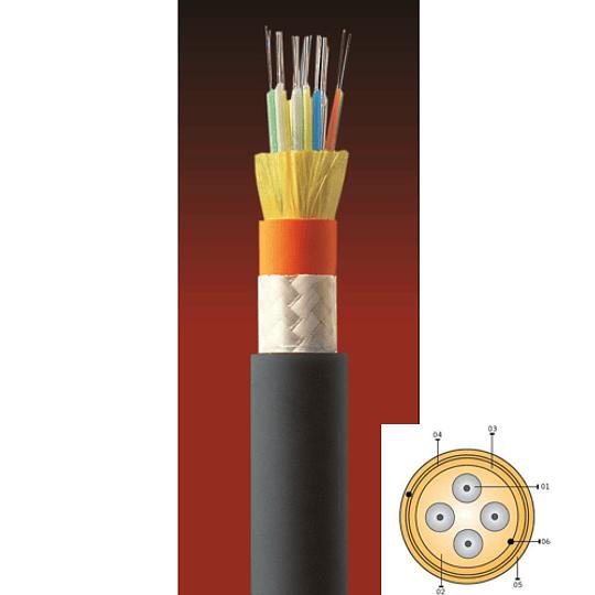 Cable Fibra Óptica 06x10 CDAD -TIA 598 / G652D Negro