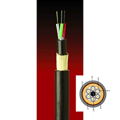 Cable Fibra Óptica 24X10 ADSS-200 TIA 598 & G652D